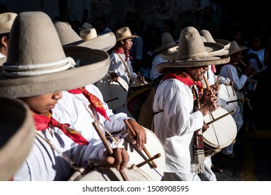 July 28, 2019: A music band performs during the Guelaguetza festival in Oaxaca