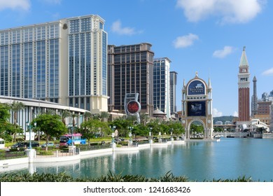 July 28th 2018, MACAO: Venetian hotel building in Italian architecture,  MACAO, CHINA