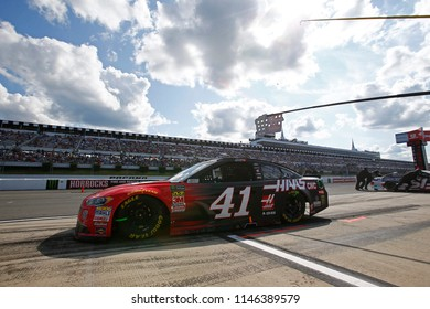 July 29, 2018 - Long Pond, Pennsylvania, USA: Kurt Busch (41) makes a pit stop during the Gander Outdoors 400 at Pocono Raceway in Long Pond, Pennsylvania.