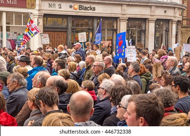 July 2nd 2016 Pro-EU rally  York, England  Supporters of the York Pro EU Rally listening to speakers