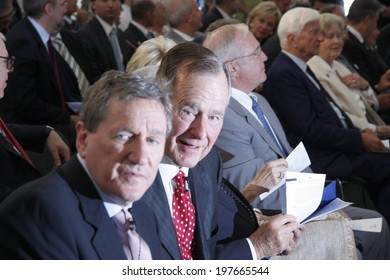 "JULY 3, 2008 - BERLIN: Richard Holbrooke, former US President George Bush sen. at the ""Kissinger Prize"" award ceremony in the American Academy, Berlin-Wannsee."