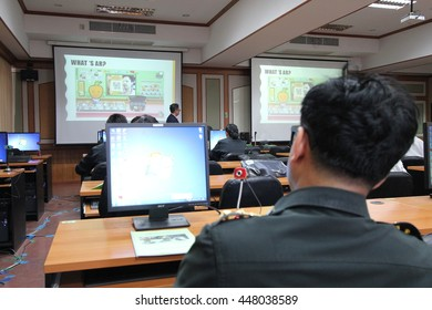 July 3, 2016 : Doctors study with augmented reality technology, develop augmented reality application at Phramongkutklao College of Medicine In Bangkok, Thailand. Training by Thai OpenAR Team.