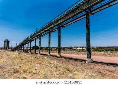JULY 3, 2018, KAYENTE, ARIZONA, USA - Peabody Western Coal Company, Navajo Route 441, Kayente, Arizona