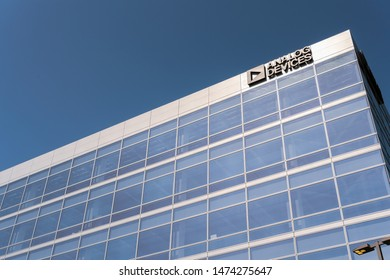 July 30, 2019 Santa Clara / CA / USA - Analog Devices offices located in Silicon Valley; Analog Devices, Inc., also known as ADI or Analog, is an American multinational semiconductor company