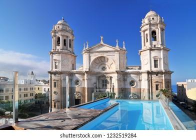 July 4, 2014. Cadiz Cathedral called La Catedral Vieja de Cadiz or Iglesia de Santa Cruz. Cadiz. Andalusia, Spain.