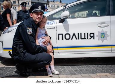 July 4, 2015. Kiev, Ukraine. New police patrol cars.