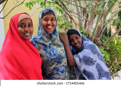 July 5, 2012 Mogadishu Somalia. Somali women who help Turkish Health teams working in Mogadishu Somalia.