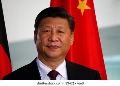 JULY 5, 2017 - BERLIN: Chinese President Xi Jinping at a press conference after a meeting with the German Chancellor in the Chanclery in Berlin.
