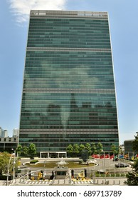 July 5, 2017; Manhattan, New York, USA: The headquarters building of the United Nations on the East River in New York City.