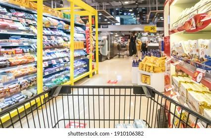 July 5, 2020, People shopping in Supermarket at True Digital Park Sukhumvit road Bangkok Thailand
