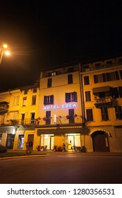 July 7, 2013. Italy. The city of Salo on the shores of Lake Lago di Garda in summer, the Lombardy region.