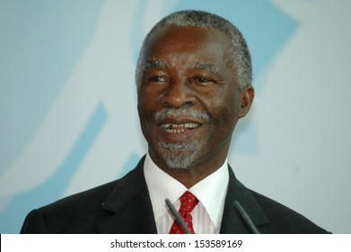 JULY 8, 2006 - BERLIN: South African President Thabo Mbeki at a press conference after a meeting with the German Chancellor in the Chanclery in Berlin.