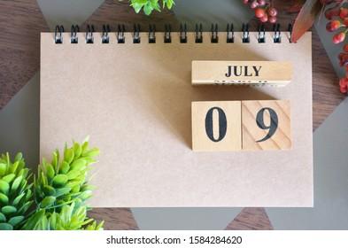 July 9, Natural notebook Calendar.