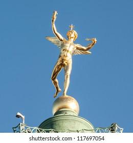 The July Column (French: Colonne de Juillet) is a monument to the Revolution of 1830 on Place de la Bastille in Paris, France (Genie de la libert�©)