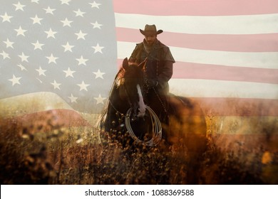 July Fourth cowboy portrait