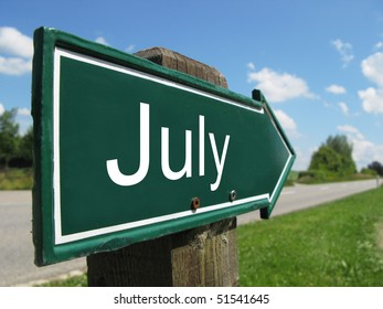 JULY road sign