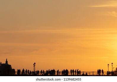 July sunset in Paris
