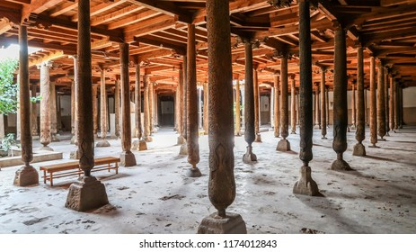 Juma Mosque With Some of its 218 Wooden Columns in Khiva, Uzbekistan (26.07.2016)