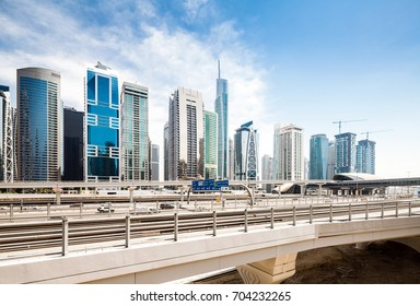 Jumeirah Lake towers district in Dubai