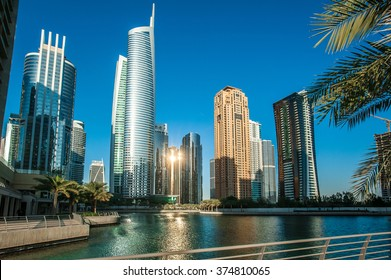 Jumeirah Lakes Towers in Dubai, United Arab Emirates, Dubai, skyscrapers
