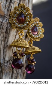 Jumka   Traditional indian bali earrings for authentic saree look