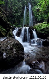 jumog waterfall in lawu mountain of central java