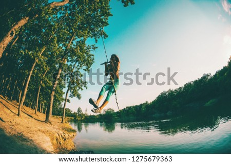 8a9b60859d56 Jump Into Water Woman Resting On Stock Photo (Edit Now) 1275679363 ...