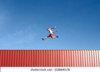 Jump Young Parkour Air