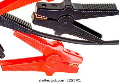 Jumper cables isolated on white background