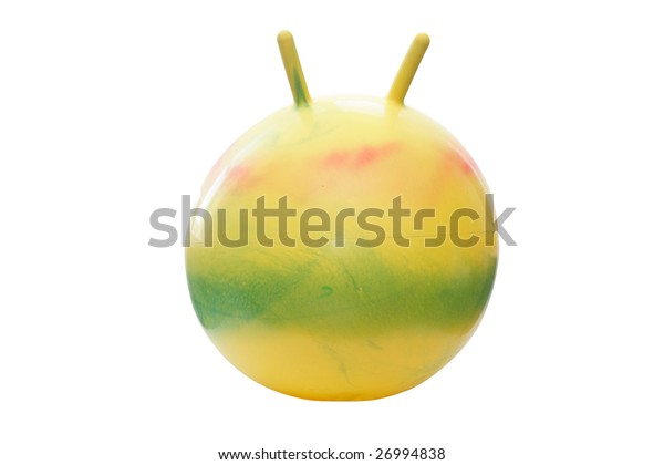 jumping ball under the white background
