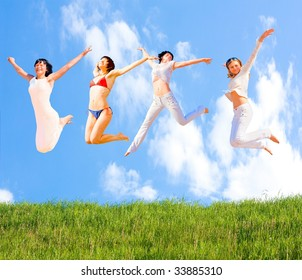 jumping joy