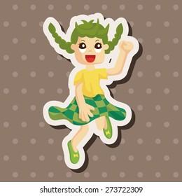 jumping person , cartoon sticker icon