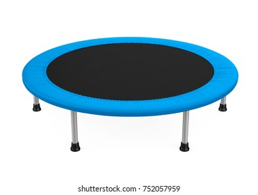Jumping Trampoline Isolated. 3D rendering