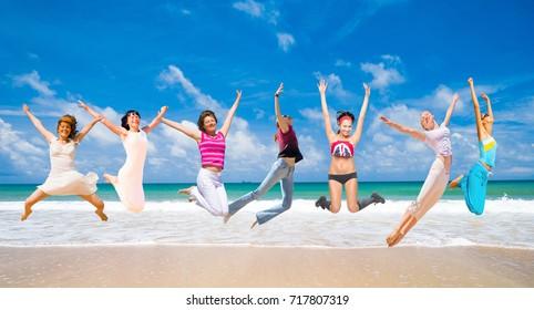 Jumping Wild Active Girls
