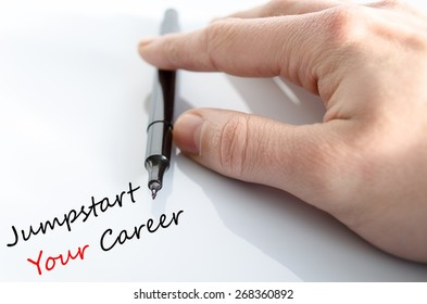 Jumpstart Your Career Concept Over White Background
