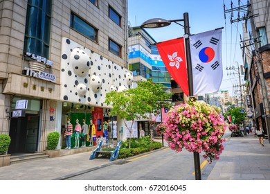 Jun 19, 2017 Store at Apgujeong Rodeo Street in Seoul city, South Korea - Famous shopping street