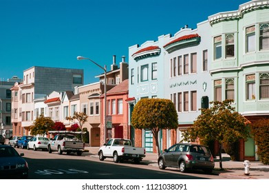 Jun 4, 2008 San Francisco, USA - Typical colourful Victorian houses in San Francisco. California, USA