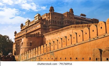 Junagarh Fort Bikaner Rajasthan exterior architectural structure.