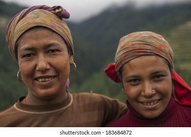 JUNBESI, NEPAL - CIRCA OCTOBER 2013: Nepalese woman circa October 2013 in Junbesi.