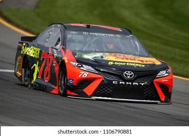 June 01, 2018 - Long Pond, Pennsylvania, USA: Martin Truex, Jr (78) brings his car through the turns during practice for the Pocono 400 at Pocono Raceway in Long Pond, Pennsylvania.