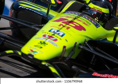 June 02, 2018 - 4, Michigan, USA: SEBASTIEN BOURDAIS (18) of France races for the Detroit Grand Prix at Belle Isle Street Course in Detroit, Michigan.