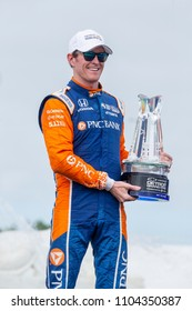 June 02, 2018 - Detroit, Michigan, USA: SCOTT DIXON (9) of New Zealand wins the Detroit Grand Prix at the Detroit Grand Prix at Belle Isle Street Course in Detroit, Michigan.