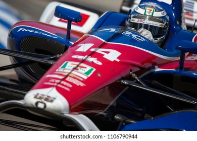 June 02, 2018 - Detroit, Michigan, USA: TONY KANAAN (14) of Brazil races during the Detroit Grand Prix at Belle Isle Street Course in Detroit, Michigan.