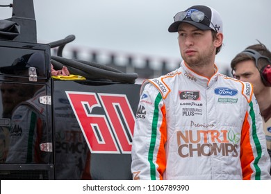 June 02, 2018 - Long Pond, Pennsylvania, USA: Chase Briscoe (60) prepares to qualify for the Pocono Green 250 at Pocono Raceway in Long Pond, Pennsylvania.