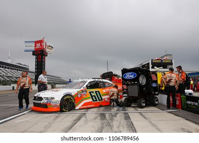June 02, 2018 - Long Pond, Pennsylvania, USA: Chase Briscoe (60) hangs out on pit road before qualifying for the Pocono Green 250 at Pocono Raceway in Long Pond, Pennsylvania.