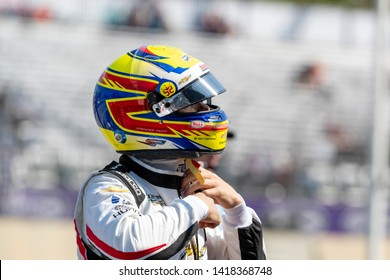 June 02, 2019 - Detroit, Michigan, USA: SPENCER PIGOT (21) of the United State prepares to practice for the Detroit Grand Prix at Belle Isle in Detroit, Michigan.