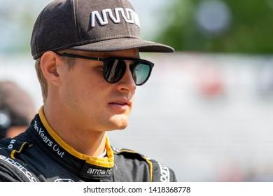 June 02, 2019 - Detroit, Michigan, USA: MARCUS ERICSSON (7) of Sweeden  prepares to practice for the Detroit Grand Prix at Belle Isle in Detroit, Michigan.