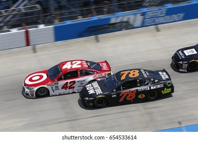 June 04, 2017 - Dover, DE, USA: Kyle Larson (42) battles for position during the AAA 400 Drive for Autism at Dover International Speedway in Dover, DE.