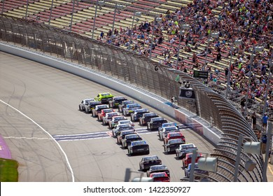 June 08, 2019 - Brooklyn, Michigan, USA: Paul Menard (12) battles for position for the LTi Printing 250 at Michigan International Speedway in Brooklyn, Michigan.