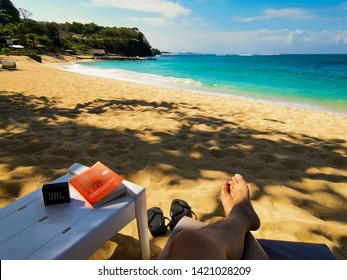June 09, 2019, Nusa Dua, Bali, Indonesia. Chilling in the beach supported by JBL Go.